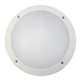 Bunker Lights and Bulkhead Lights | BULK series: LED Exterior Bulkhead Light - White Round, Cool White Lighting