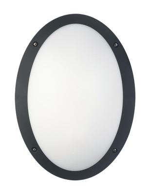 Bulk Series: Exterior LED Oval Bulkhead Light - Black