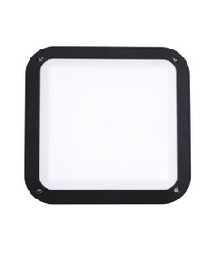 Bunker Lights and Bulkhead Lights | BULK series: LED Exterior Bulkhead Light - Square Black Bulkhead