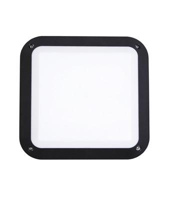 Bunker Lights and Bulkhead Lights | BULK series: LED Exterior Bulkhead Light - Square Black Bulkhead