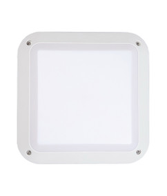 Bunker Lights and Bulkhead Lights | BULK series: LED Exterior Bulkhead Light - Square White Bulkhead