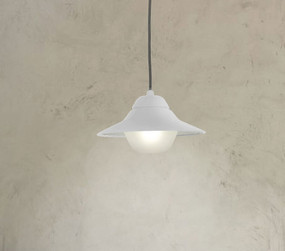Contemporary Outdoor Pendant Light IP44 - White