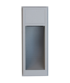 Exterior Surface Mounted LED Rectangular Wall Light - Silver