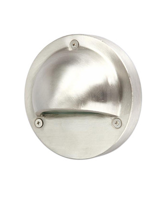 Step Lights | LED Exterior Eyelid Step Light - 12V DC Input Silver