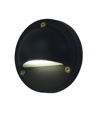 Step Lights | LED Exterior Eyelid Step Light - 12V Black