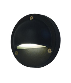 Step Lights | LED Exterior Eyelid Step Light - 240V Black