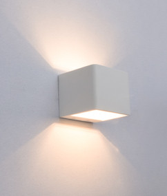 Charming LED Interior Up Down Wall Light - White Alum