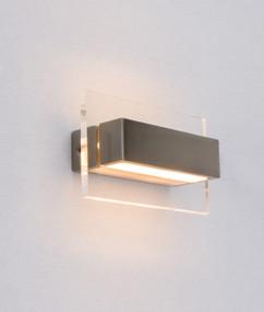 Charming LED Linear Interior Wall Light - Satin Nickel Alum