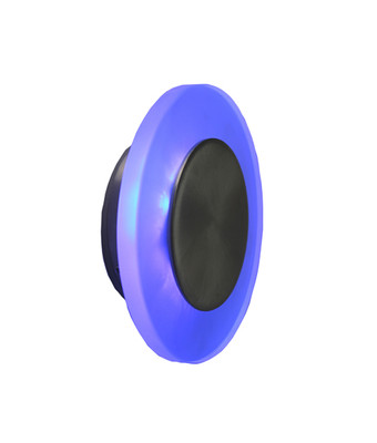 Sconces | Round LED Interior Wall Light - Blue