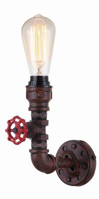 Sconces | STEAM series: interior decorative aged iron pipe wall light - 1 E27 Globe