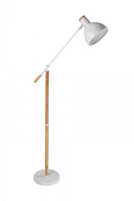 SWEDE series: Blonde Wood White Floor Lamp