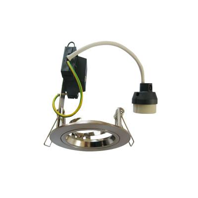 Downlights   GU10 Energy Saving Downlight - Round Silver Chrome Fixed
