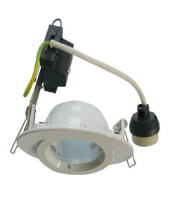 Downlights | GU10 Energy Saving Downlight - Round White Gimbal