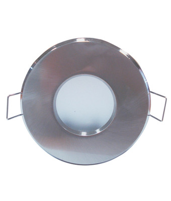 Downlights   Sealed Bathroom Downlight - MR16 Round Frosted Silver Chrome