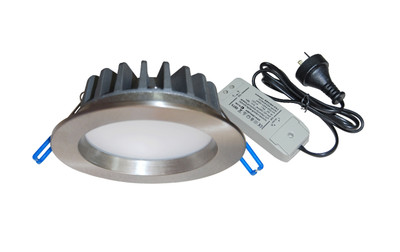 Gal 10W LED Fixed Round Downlight - Satin Chrome