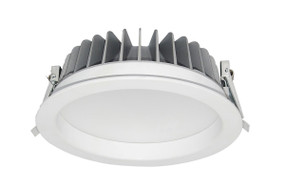 LED Downlight - Dimmable 30W 2500lm IP54 4000K 230mm White Shop Light