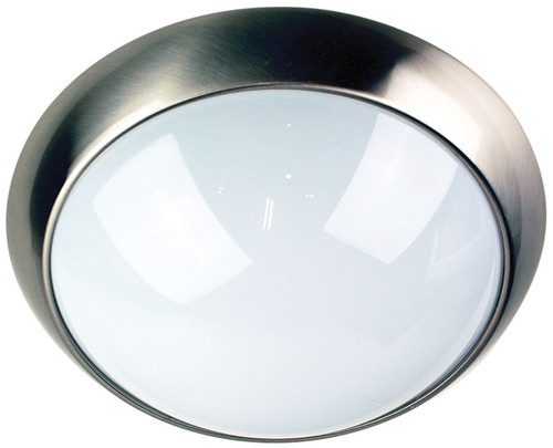Econ IP44 Oyster Brushed Steel Double Insulated