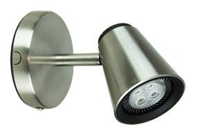 Zoom LED Single Spotlight Brushed  Steel