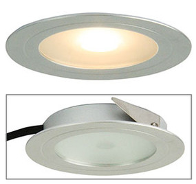 Magro LED Recessed Cabinet Light Silver