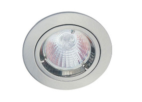 LED 12V Downlight Kit - 50W 80mm Brushed Chrome MR16 Globe Included