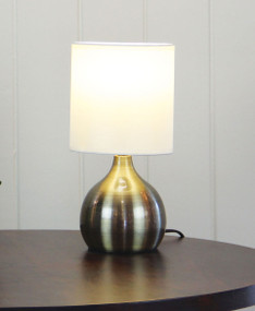 Graceful Touch Lamp Antique Brass