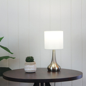 Refined Touch Lamp Antique Brass
