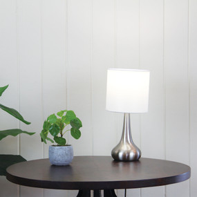 Refined Touch Lamp Brushed Chrome