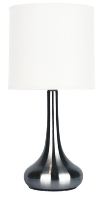 Lola Touch Lamp Brushed Chrome