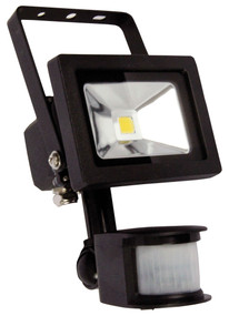 Foco 10W LED Sensor Flood Light Black IP44