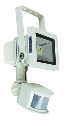 Foco 10W LED Sensor Flood Light White IP44