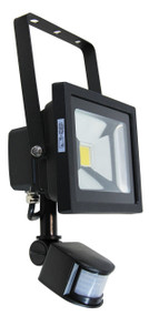 Foco 20W LED Sensor Flood Light Black IP44