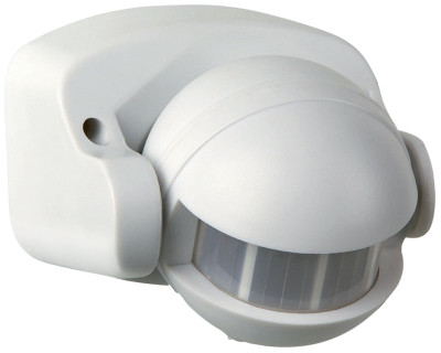 Lightwatch Sensor Wall Under Eave Mounted White