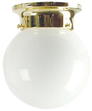 15cm Jetball Batten Fix Opal / Brass