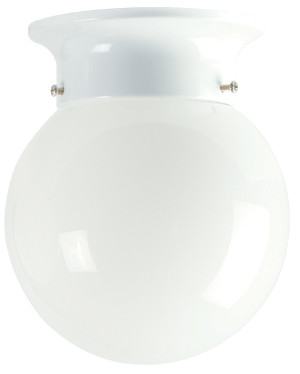15cm Jetball Batten Fix Opal / White