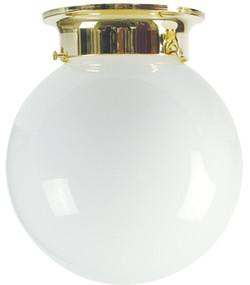 20cm Jetball Batten Fix Opal / Brass