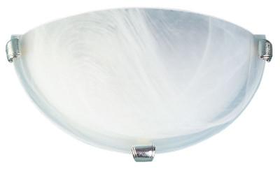 Remo 30cm Uplighter Alabaster / Chrome