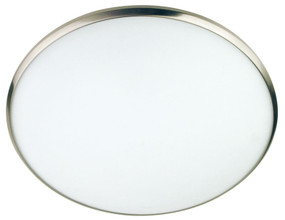 Luma 40cm Oyster Satin Chrome Trim