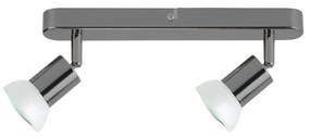 Ceiling Lights - 2 Adjustable GU10 Spotlights Gunmetal O200