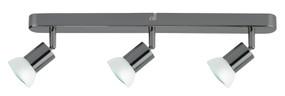 Ceiling Lights - 3 Adjustable GU10 Spotlights Gunmetal O300