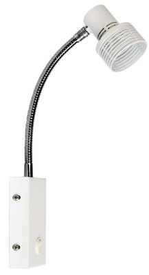Zip Hardwired Switched Wall Light -White