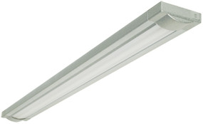 Wave Silver Single 28W T5 Fluorescent Light