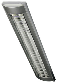 Cupola Silver 2x14W T5 Chrome Grill