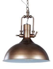 Industrial Single Pendant Brown