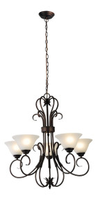 Gaston 5-Light Up Pendant Bronze