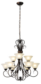 Gaston 9Lt Up Pendant Bronze