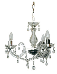 Marie Therese 3-Light Pendant Clear and Chrome
