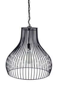 Gabby Wire Single Pendant Black