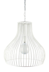 Gabby Wire Single Pendant White