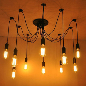 Pendant Light - 10 Lights Black OMS