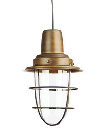 Industrial Pendant Light - Bronze Rustic Cage Vintage Case